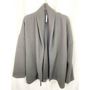 Fabletics Vanessa Quilted open cardigan gray L